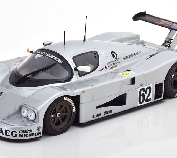 Mercedes-Benz Sauber C9 No.62, 24h Le Mans 1989 Schlesser/Jabouille/Cudini 1-18 Minichamps Limited 402 Pieces