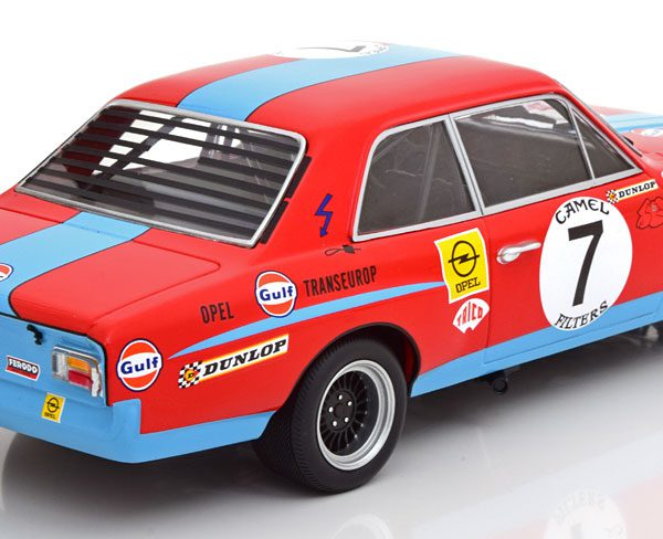 Opel Commodore A Steinmetz No.7, 24h Spa 1972 Joossens/Mashall Rood 1-18 Minichamps Limited 400 Pieces