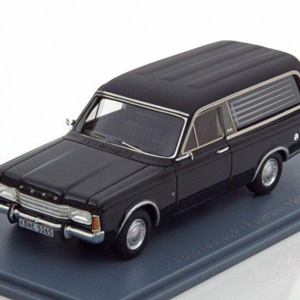 Ford Taunus B7 Pollmann 1969 Zwart 1-43 Neo Scale Models