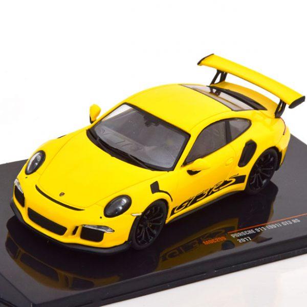 Porsche 911 (991) GT3 RS 2017 Geel / Zwart 1-43 Ixo Models