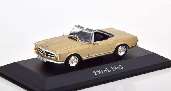 Mercedes-Benz 230 SL Pagode ( W113 ) Roadster 1963-1967 Goud 1-43 Atlas
