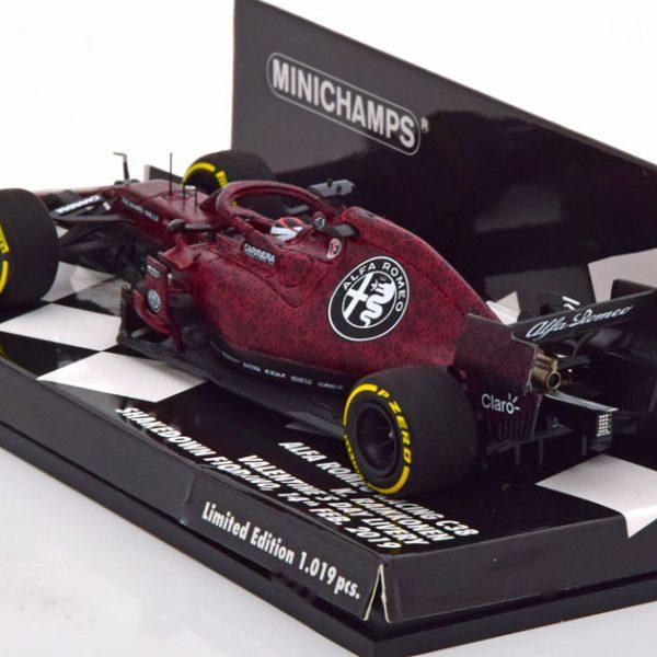 Alfa Romeo Racing C38 Valentine´s Day Livery,Shakedown Fiorano 2019 Kimi Raikkonen 1-43 Minichamps Limited 1019 Pieces ( Resin )