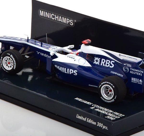 Williams Cosworth FW32 2010 R.Barrichello 1-43 Minichamps Limited 300 Pieces