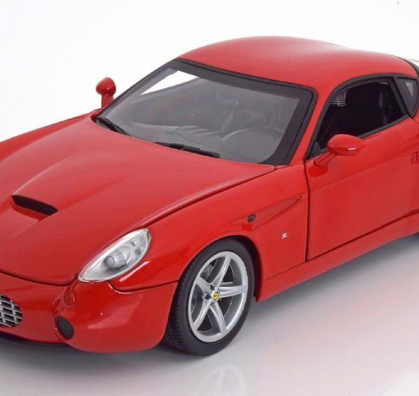 Ferrari 575 GTZ Zagato 2006 Rood 1-18 Hotwheels