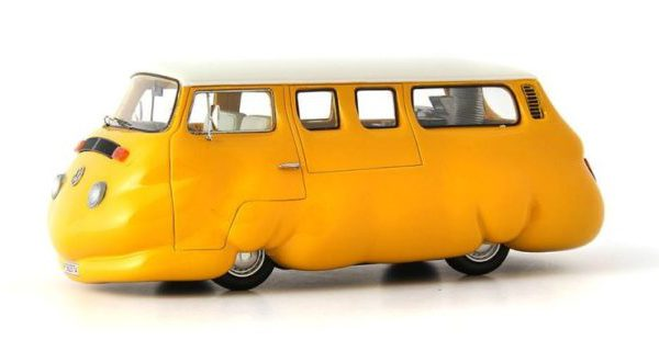 """Volkswagen T2 Curry Geel """"Currywurst"""" 1-43 Autocult Edition 2016 Limited 333 Pieces"""