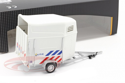 Horse Trailer Dutch Police white 1:43 Cararama