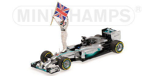 Mercedes AMG Petronas F1 Team F1 W05 Hybrid Winner Abu Dhabi GP 2014 World Champion Lewis Hamilton 1-43 Minichamps Limited 2014 Pieces