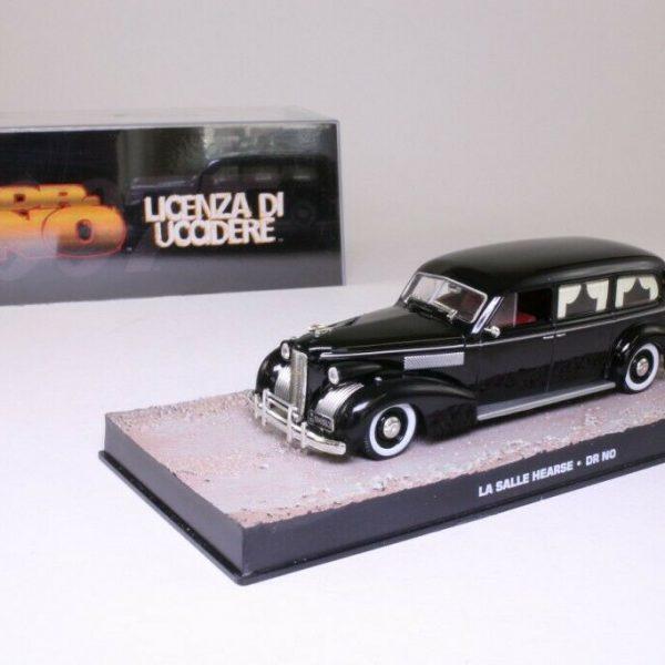 "La Salle Hearse James Bond ""Dr No"" Zwart 1-43 Altaya James Bond 007 Collection"