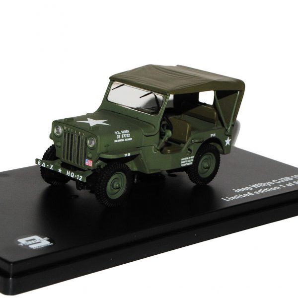 "Jeep Willy's CJ3B 1953 ""US Army"" Groen 1-43 Triple 9 Collection Limited 600 Pieces"
