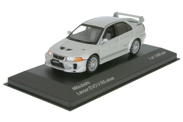 Mitsubishi Lancer Evo V RS 1998 RHD Zilver 1-43 Whitebox Limited 1000 Pieces