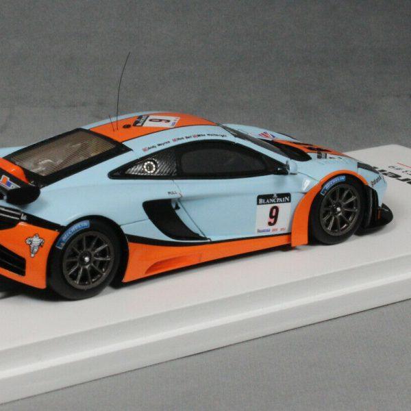 """McLaren MP4-12C GT3 Nr#9 Spa 24Hrs 2012 """"Gulf"""" Bell, Meyrick & Wainwright 1-43 True Scale Miniatures"""