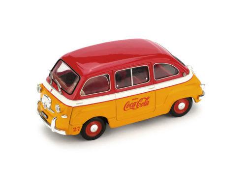 """Fiat 600 Multipla """"Coca Cola"""" Olimpiadi Di Roma 1960 1:43 Brumm"""