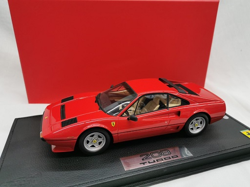 Ferrari 208 GTB Turbo 1982 Rood 1-18 BBR Models Limited 437 Pieces