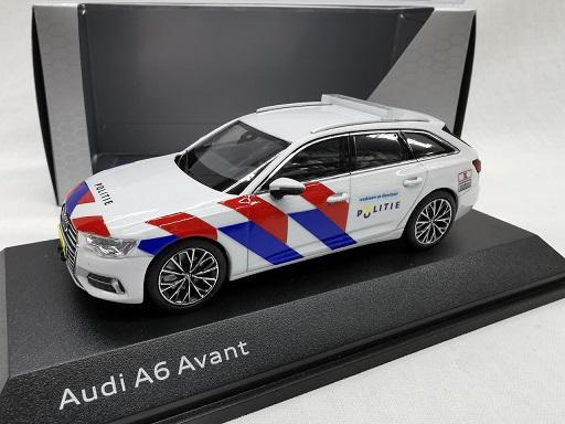 Audi A6 Avant 2018 Nederlandse Politie omgebouwd ( Nieuwe Striping ) 1-43 Iscale