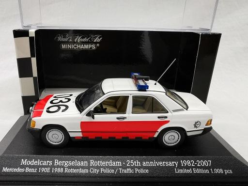 Mercedes-Benz 190 E 1988 Rotterdam City Police / Traficc Police 1-43 Minichamps Limited 10008 Pieces