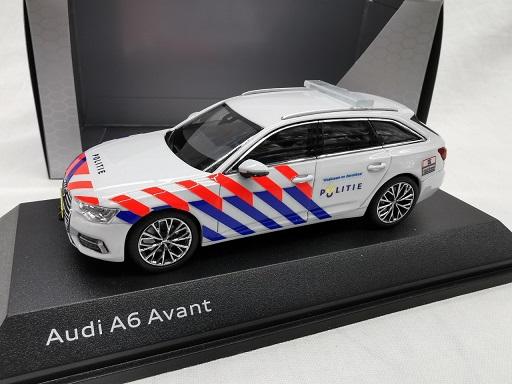 Audi A6 Avant 2018 Nederlandse Politie omgebouwd ( Oude Striping ) 1-43 Iscale