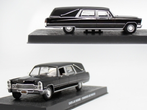 "Cadillac Hearse James Bond ""Diamonds Are Forever"" Zwart 1-43 Altaya James Bond 007 Collection"