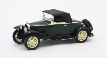 Bugatti Type 40 Roadster gesloten 1929 Zwart/Geel 1-43 Matrix Scale model Limited 408 pcs.
