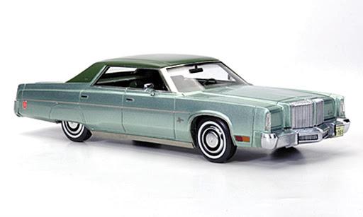 Chrysler Imperial Sedan 1975 Groen 1-43 Neo Scale models