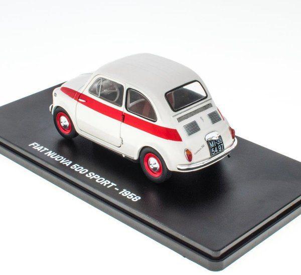 Fiat 500 Nuova Sport 1958 Beige / Rood 1-24 Hachette