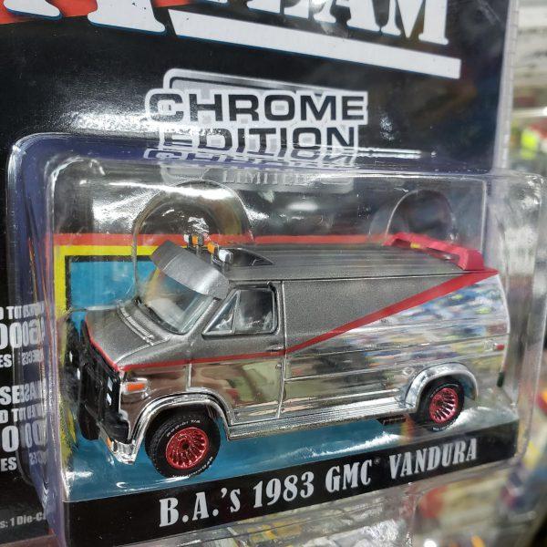 "GMC Vandura 1983 ""Tv-Serie The A-Team (1983-87)"" chroom Editon Mijo Exclusive 1:64 Greenlight Collectibles"