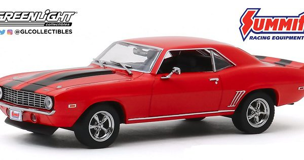 "Chevrolet Camaro 1969-""Summit Racing Equipment"" Rood / Zwart 1-43 Greenlight Collectibles"