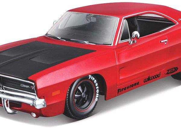 Dodge Charger R/T 1969 Rood / Zwart 1-25 Maisto Design ( Classic Muscle )