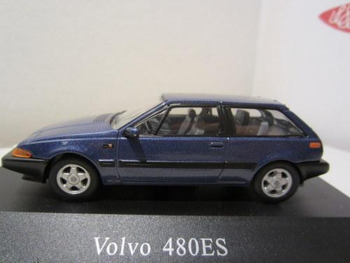 Volvo 480 ES 1987 Blauw 1-43 Atlas Volvo Collection