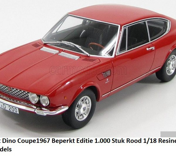 Fiat Dino Coupe 1967 Rood 1-18 BOS Models Limited 1000 Pieces