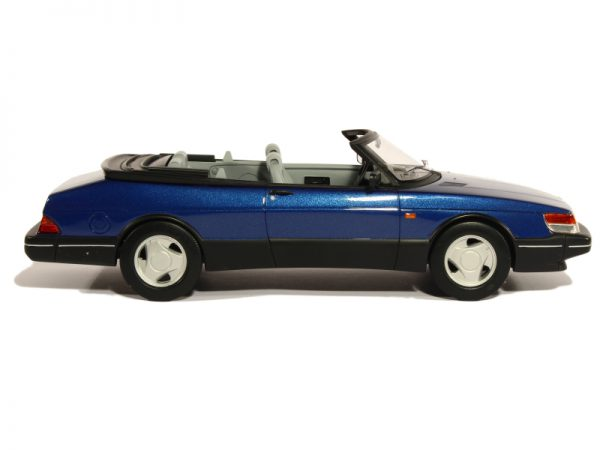 Saab 900 S 1987 Cabriolet Blauw 1-18 BOS Models Limited 1000 Pieces