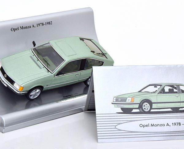 Opel Monza A 1978-1982 Groen Metallic 1-43 Schuco ( Dealer )