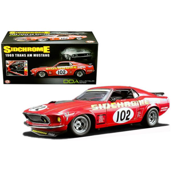 Ford Mustang Boss 302 1969 Trans Am #102 Jim Richards Rood 1-18 GMP / ACME Limited 954 Pieces