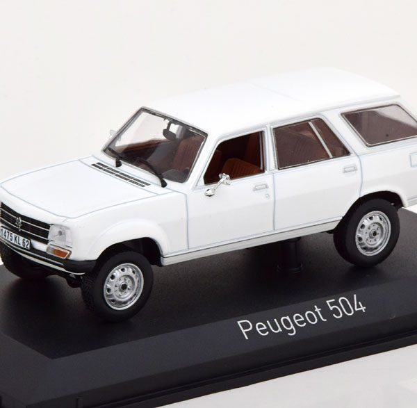 Peugeot 504 Break Dangel 1980 Wit 1-43 Norev
