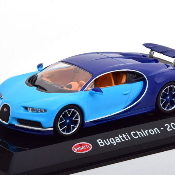 Bugatti Chiron 2016 Blauw 1-43 Altaya Super Cars Collection