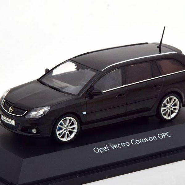 Opel Vectra OPC Caravan 2005 Zwart 1-43 Schuco ( Dealer )