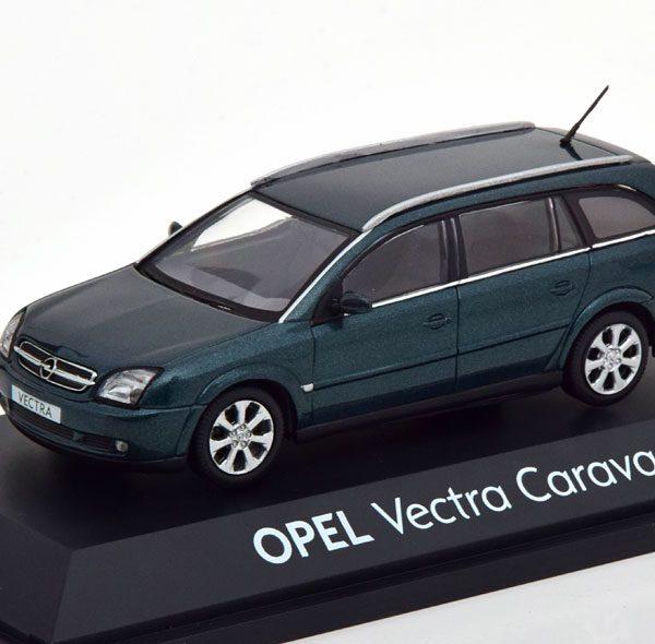 Opel Vectra Caravan Groen Metallic 1-43 Schuco ( Dealer )
