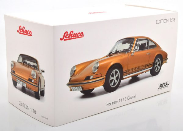 Porsche 911 S Coupe 1973 Goudoranje Metallic 1-18 Schuco Limited 911 Pieces