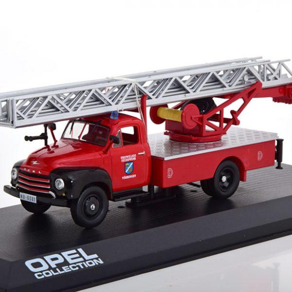 """Opel Blitz """"Brandweer """" 1952-1960 Rood 1-43 Altaya Opel Collection"""
