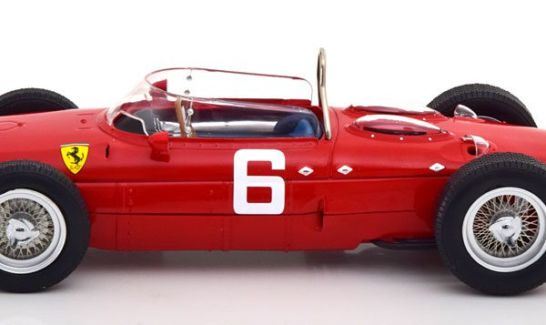 Ferrari 156 Sharknose F1 Nr# 6 GP Belgie 1961 Richie Ginther Rood 1-18 CMR Models