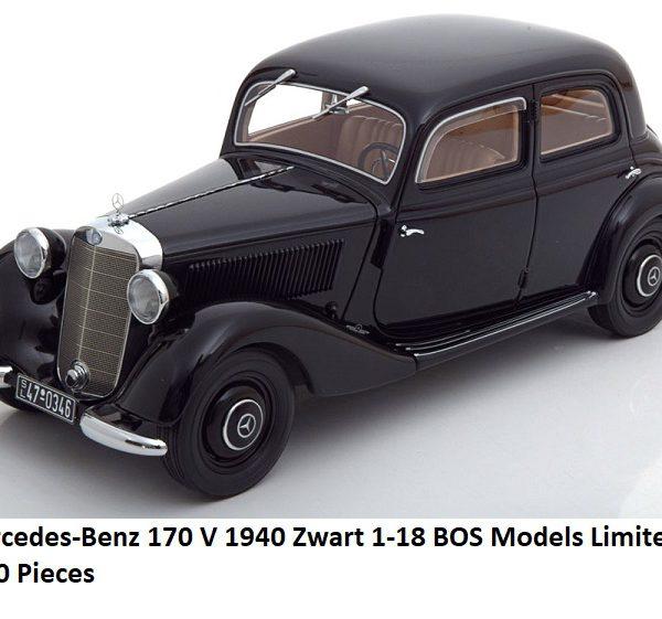 Mercedes-Benz 170 V 1940 Zwart 1-18 BOS Models Limited 1000 Pieces