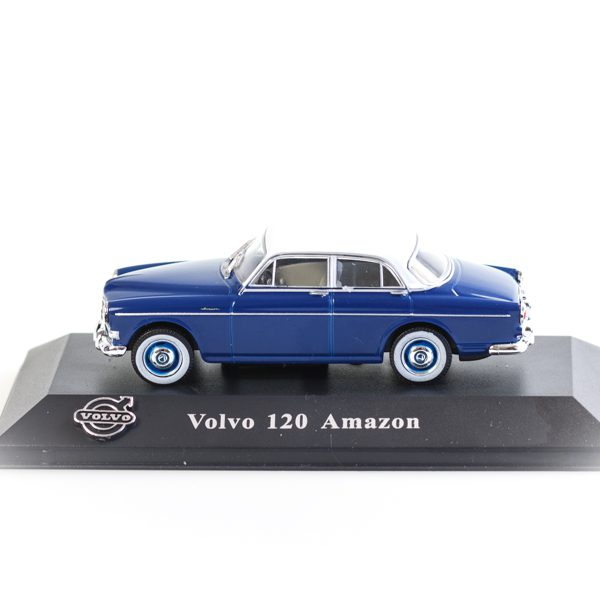 Volvo 120 Amazon 1956 Blauw / Wit 1-43 Atlas Volvo Collection