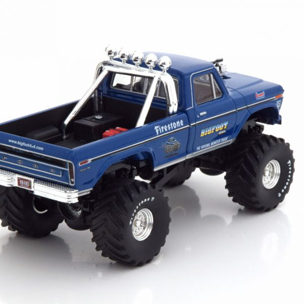"Ford F-250 Big Foot 1974 ""Monster Truck"" Blauw Metallic 1-43 Greenlight Collectibles"