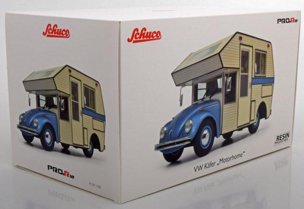 Volkswagen Kever Motorhome Blauw / Creme 1-18 Schuco Pro R Limited 500 Pieces