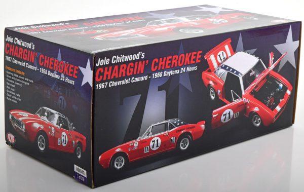 Chevrolet Camaro 1967 No.1, Chargin Cherokee 24 Hrs Daytona 1968 Joie Chitwood Wit 1-18 GMP/ACME