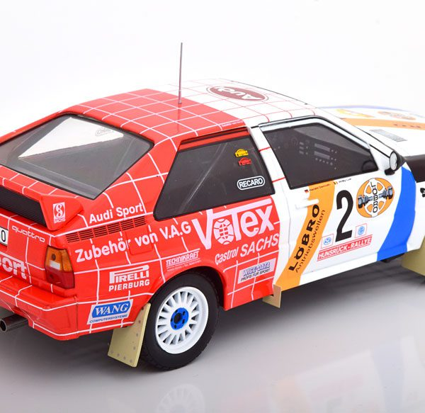 Audi Quattro No.2, Rally Hunsrück 1984 Demuth/Lux 1-18 Ixo Models