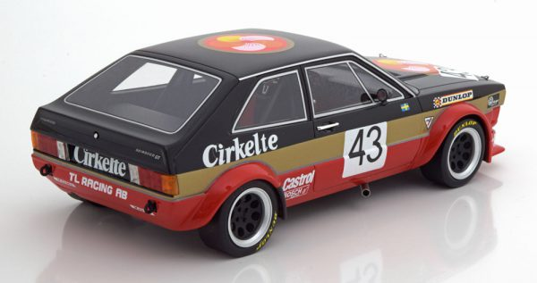 Volkswagen Scirocco Coupe Gr.2 TL Racing AB N 43 ETCC 1979 Lindstrom / Wiedesheim Zwart / Goud / Rood 1-18 BOS Models Limited 1000 Pieces