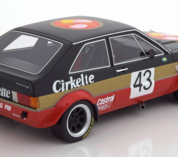 Volkswagen Scirocco Coupe Gr.2 TL Racing AB N 43 ETCC 1979 Lindstrom / Wiedesheim Zwart / Goud / Rood 1-18 BOS Models Limited 1000 Pieces