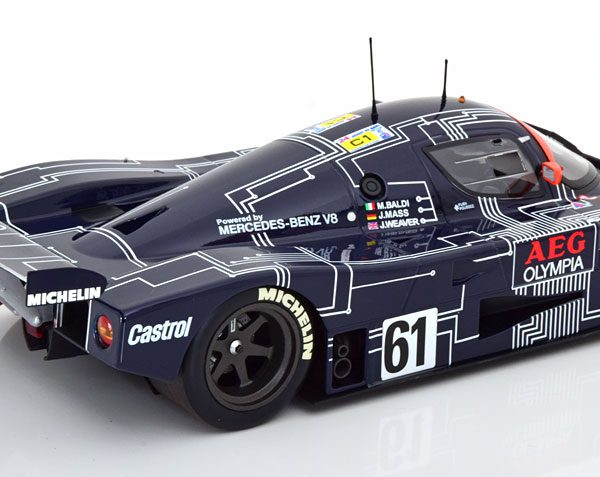Mercedes-Benz Sauber C9 No.61, 24h Le Mans 1988 Baldi/Weaver/Mass 1-18 Minichamps Limited 504 Pieces