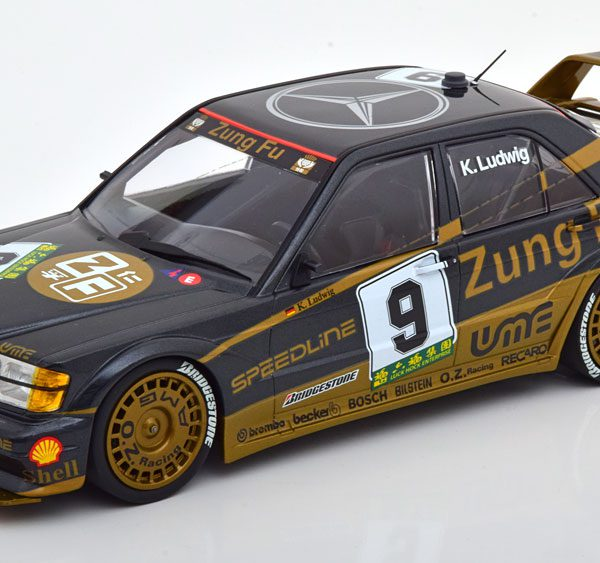 "Mercedes-Benz 190E 2.5-16 Evo 2 No.9, Macau Guia Race 1991 ""Zung Fu"" K.Ludwig 1-18 Minichamps Limited 204 Pieces"