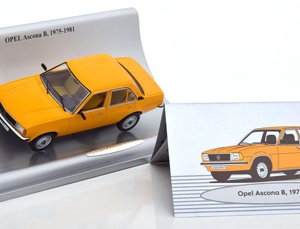 Opel Ascona B 1975-1981 Okergeel 1-43 Schuco ( Dealer )